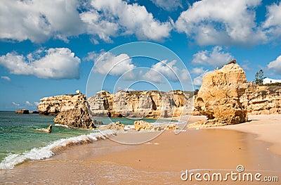 Sandstone cliffs near Albufeira