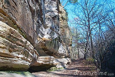 Sandstone Cliffs in Starved Rock Park