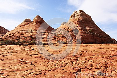Sandstone Formations near The Wave