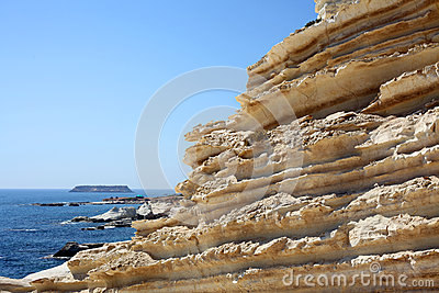 Sandstone rocks in Cyprus