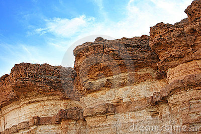 Sandstone rocks in desert