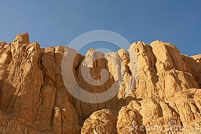 Sandstone rocks in desert