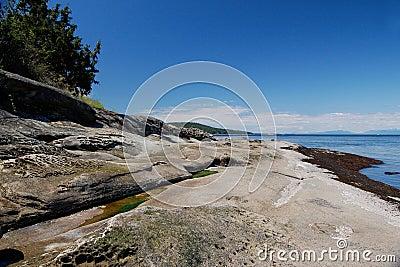 Sandstone shoreline, Galiano Island, BC
