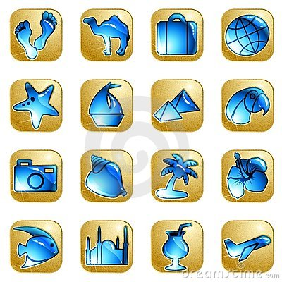 Sandstone vacation icons