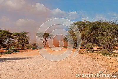 Sandstorm in  Desert, Kenya