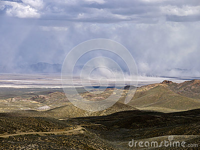 Sandstorm in the Northern Nevada Desert