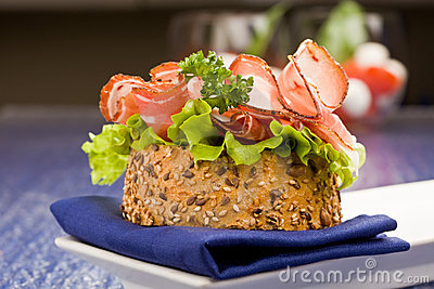 Sandwich with Bacon and Salad