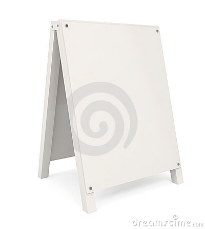 Free Sandwich Board Isolated On White Royalty Free Stock Photos - 14809928