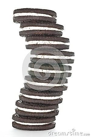 Free Sandwich Chocolate Cookies Stock Image - 27867601