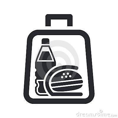 Sandwich and drink in a bag