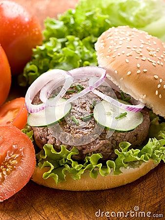 Sandwich with hamburger