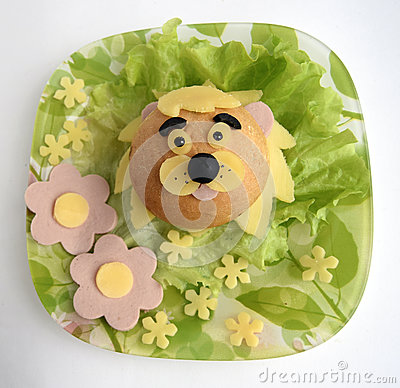 Free Sandwich In The Form Of The Head Of A Lion Stock Photos - 80085833