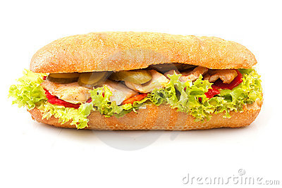 Sandwich isolated on white