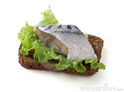 Sandwich with jack mackerel