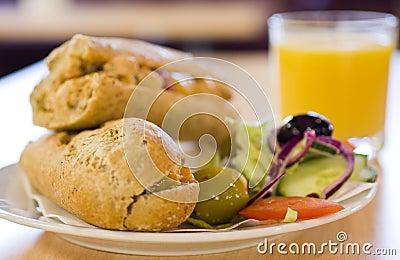 Sandwich lunch plate