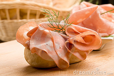 Sandwich with Mortadella