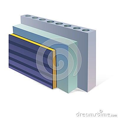 Sandwich panels aerocrete concrete slabs