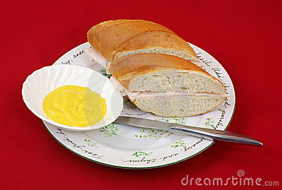 Sandwich plate and mustard