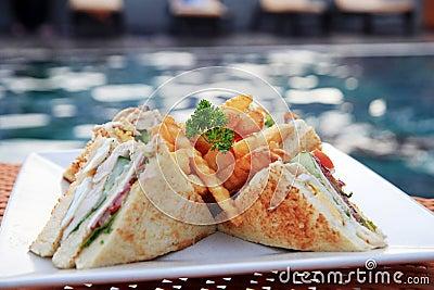 Sandwich portion closeup