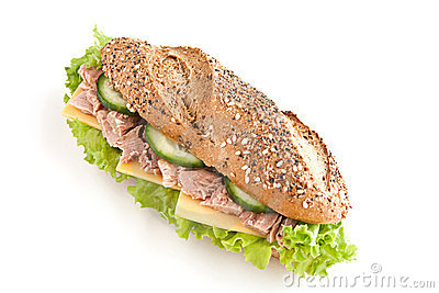 Sandwich with tuna