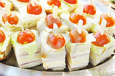 Sandwiches with  fresh tomatos