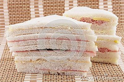 Sandwiches on a mat