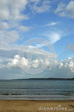 Sandy Beach and Big Sky