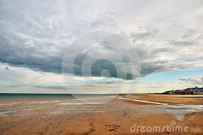 Sandy beach at Bridlington.
