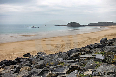 Sandy Beach on the English Channel in Brittany
