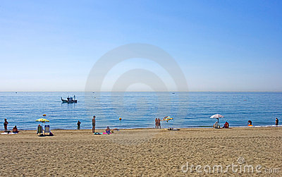 Sandy beach at Estepona in Southern Spain