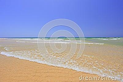 Sandy beach at Faro