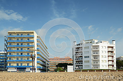 Sandy beach of Malgrat de Mar