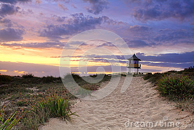 Sandy Beach Path, Sunrise