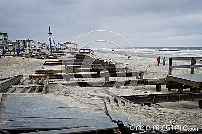 Sandy Belmar Boardwalk Editorial Photo