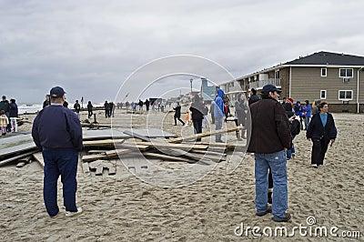 Sandy Belmar People on Beach Editorial Image