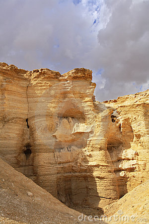 The sandy canyon in ancient mountains