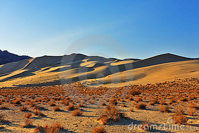 The sandy dune Eureka in desert