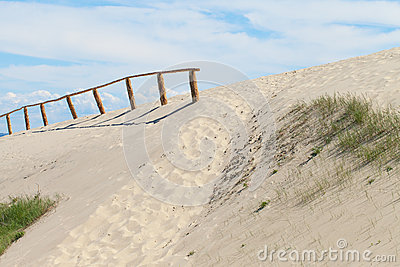 Sandy dunes, Curonian Spit , Lithuania.