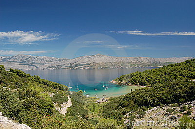 Sandy Lovrecina bay on Brac island
