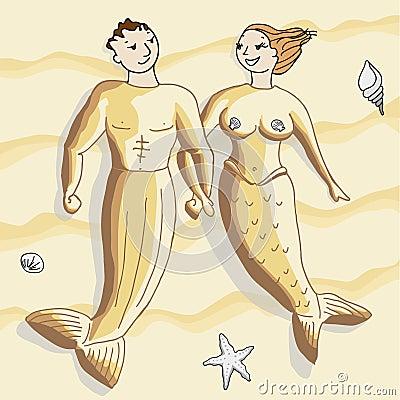 Sandy mermaids