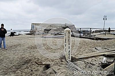 Sandy Ocean Ave Belmar Editorial Image