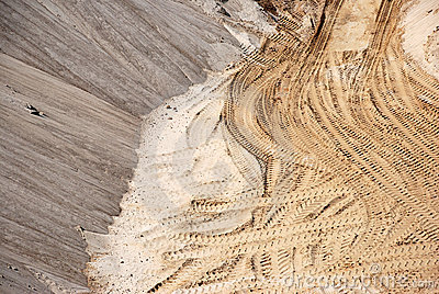 A sandy pit