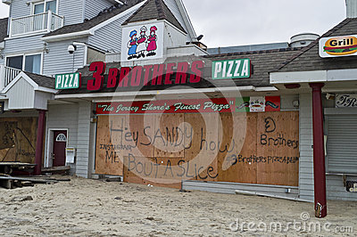 Sandy Pizza Belmar Editorial Stock Image