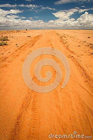 Sandy road, Kenya