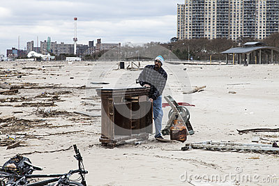 Sandy s aftermath Editorial Photo