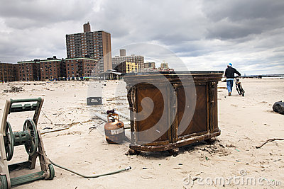 Sandy s aftermath Editorial Stock Image
