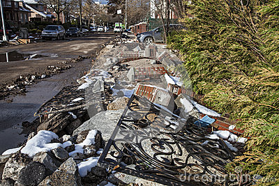 Sandy s Aftermath Editorial Stock Photo