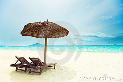 Sandy tropical beach