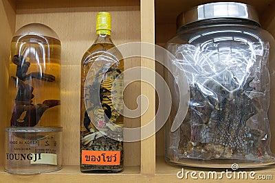 Sanguijuelas, escorpión, serpiente, lagarto de monitor Foto editorial