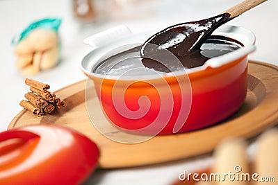 Sanguinaccio chocolate sauce